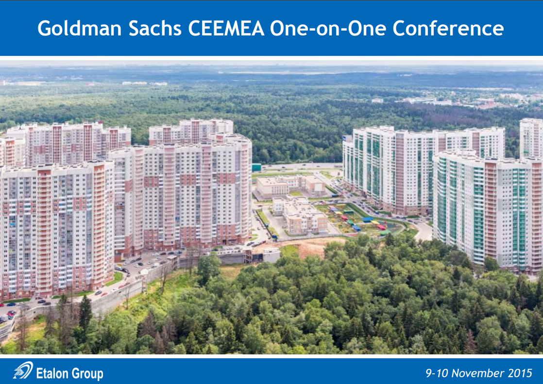 Goldman Sachs CEEMEA One-on-One Conference
