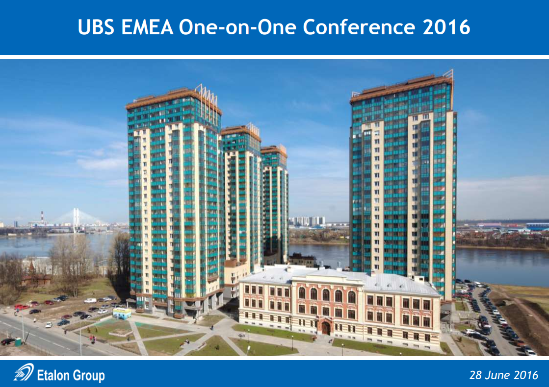 UBS EMEA One-on-One Conference 2016